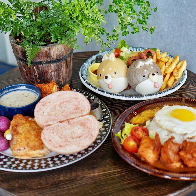 台南早午餐【豆弄.手作】雙色柴犬餐
