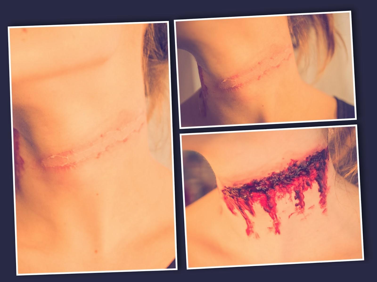 vampirbiss wunde schminken
