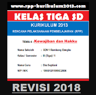 GAMBAR rpp k13 kelas 3 tema revisi 2018 semester 1