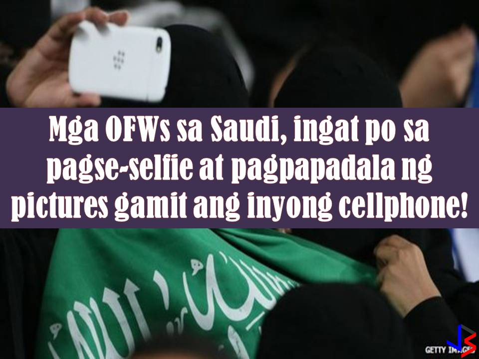 "Selfie here, selfie there, selfie everywhere! With the development of smartphones, selfie becomes our way of life to express ourselves. We also love to share funny images on our cell phones too. Here in the Philippines, we have no problem with this, but if you are in Saudi Arabia, you should be wary of doing so because you may violate the privacy of other people.  Last March 13, the Saudi Arabian Ministry of Interior launches an app to report privacy violations. The app will help protect individual privacy. The main purpose of the app is to stop the use of mobile phones to spread damaging footages or images. According to the ministry, sending malicious images via smartphone is ""crossing a red line.""  Kolonna Amn (""We are all security"") app allow users to make an official complaint if they believe their privacy has been violated. Offenders of this could face penalties of up to one-year imprisonment or a fine of SR500,000 ($133,000). So before you take a selfie make sure your background is clear from unwanted images of people who can report you of violating their privacy. Also, stop sending images that others may find offensive, disrespectful or malicious to avoid problems while in working in Saudi Arabia."