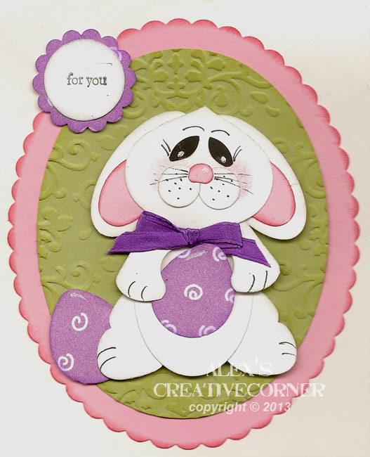 Alex's Creative Corner: Shy Bunny Easter Card