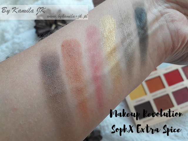 Makeup Revolution  SophX Extra Spice swatch