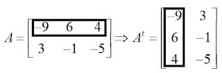 transposta de uma matriz