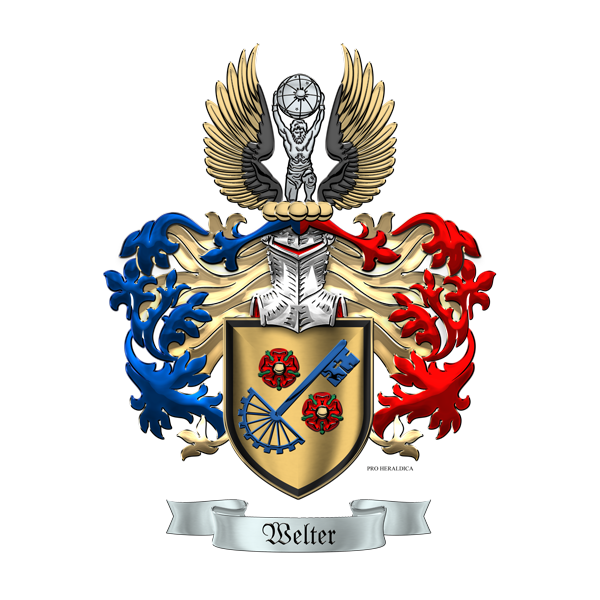 Heraldry workshop welter family coat of arms for pro for Pro heraldica