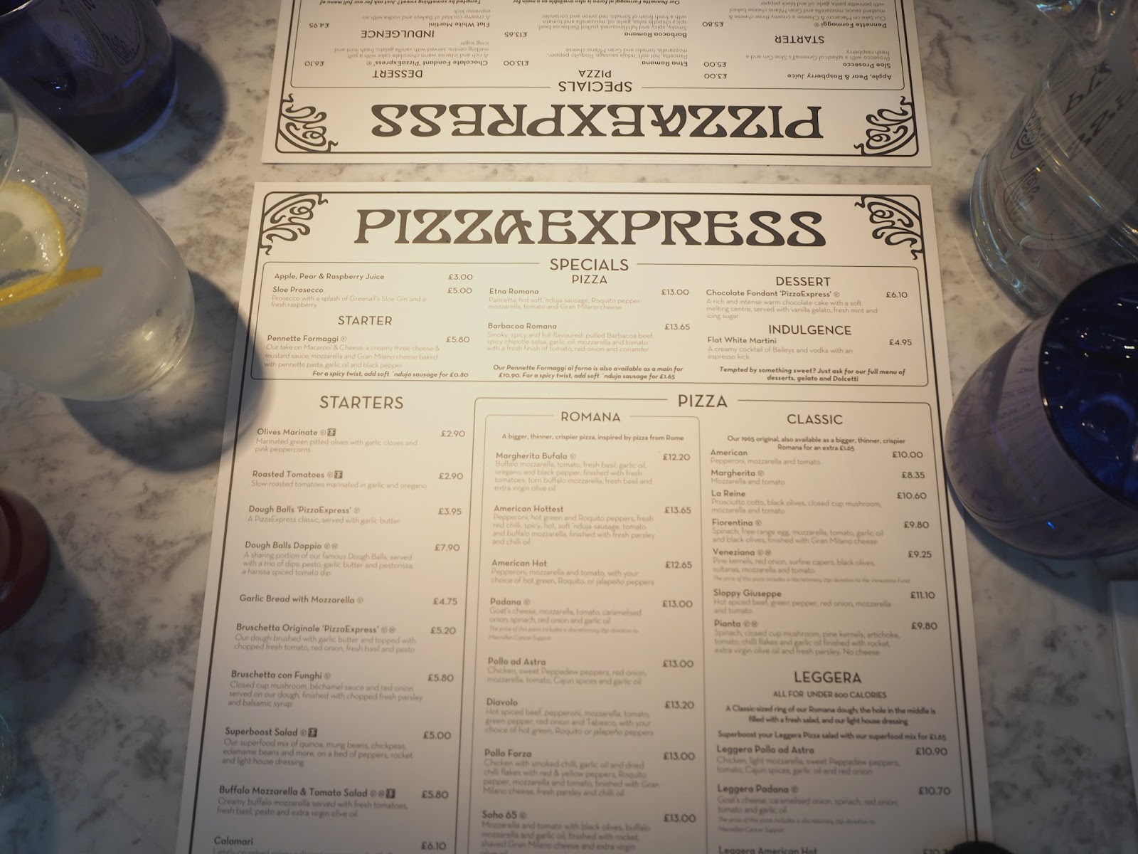 Food A Brand New Pizza Express Formby Merseyside