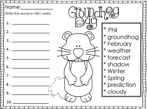 Budget Friendly Homeschooling: Groundhog Day Freebie
