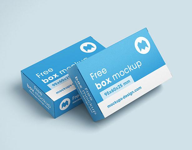 Gratis Mockup Packaging/Kemasan PSD 2018 - Rectangle Box Mockup PSD