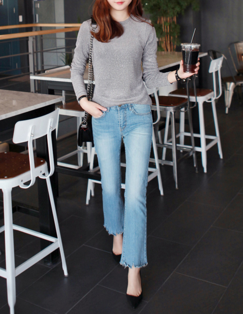 Knitted Round Neck Top