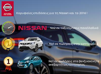Κορυφαίες επιδόσεις για τη Nissan και το 2016