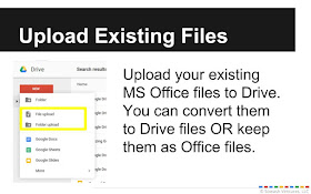 Upload existing office files to Drive.