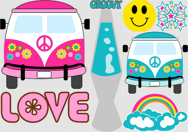Hippy Party Clip Art.