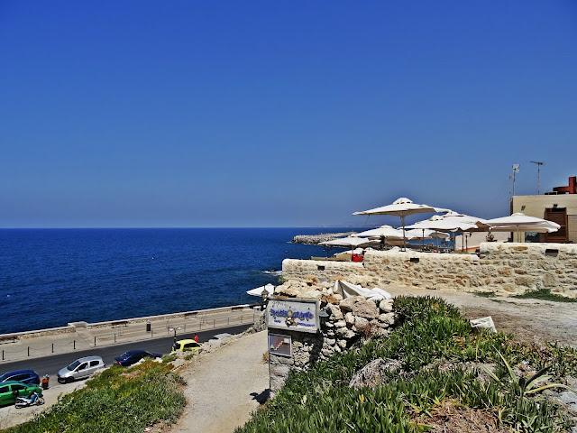mury obronne Rethymno widok na port morski
