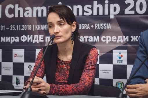 Lors des départages du 5ème tour, Kateryna Lagno a gagné son billet pour la finale - Photo © site officiel