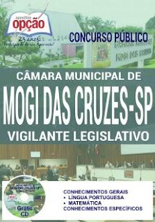 Apostila concurso Câmara de Mogi das Cruzes 2016 - Vigilante Legislativo