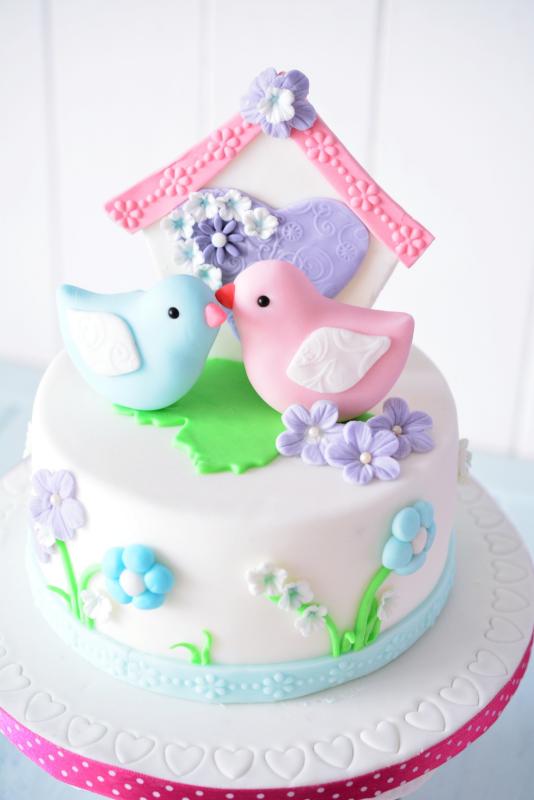 Kessy S Pink Sugar Love Birds Cake Zum Valentinstag
