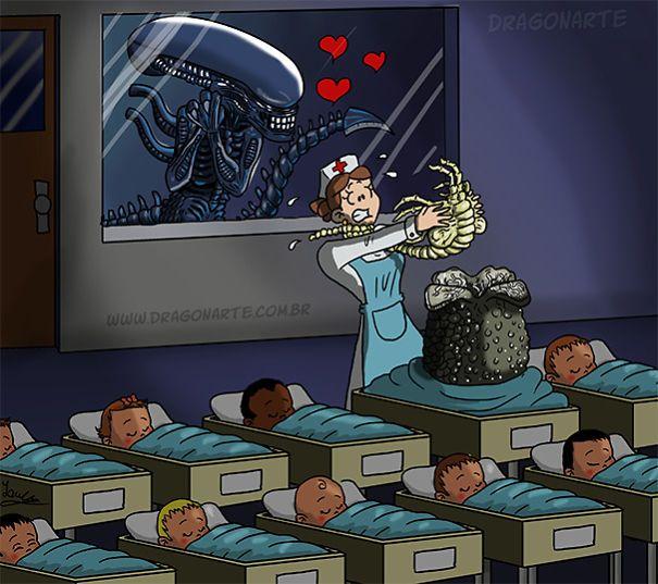 Alien's Baby,ابطال خارقون مع أطفالهم