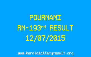 POURNAMI RN 193 Lottery Result 12-7-2015