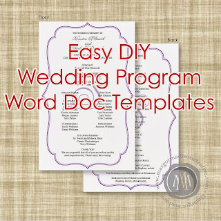 margotmadison diy wedding program word doc templates now. Black Bedroom Furniture Sets. Home Design Ideas