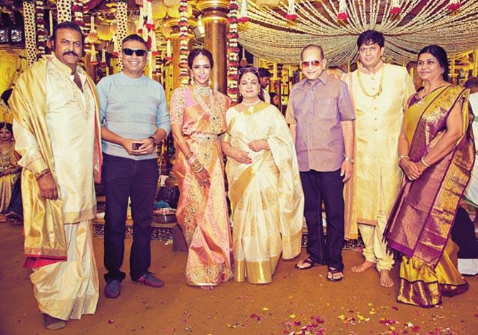 Ramoji Rao, Manoj Manchu and Pranathi Reddy Wedding Pics
