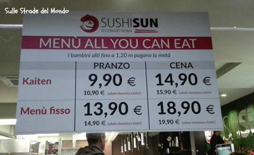 Mangiare giapponese a roma con la formula all you can eat