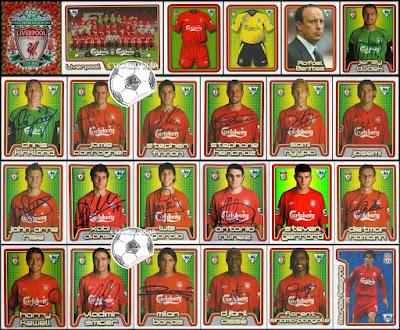 Merlin football stickers Liverpool 2004/05