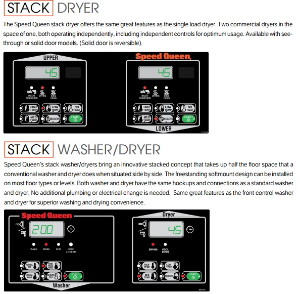 detail%2Bstack%2BSQ Mesin Stack Koin Washer and Dryer Speed Queen 10,5 kg