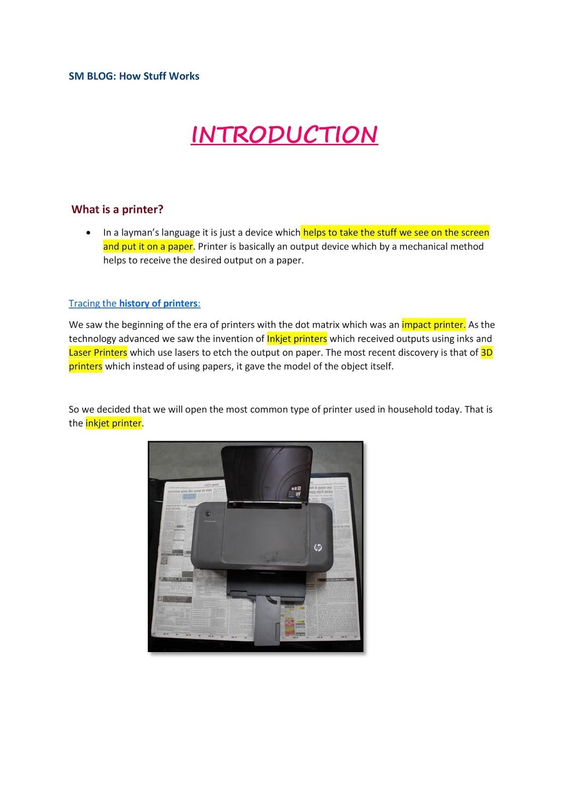 SM BLOG 2016: How Inkjet Printers work | IIITD: Systems