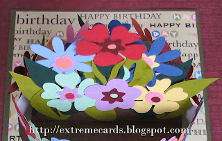 flowerpot pop up card detail