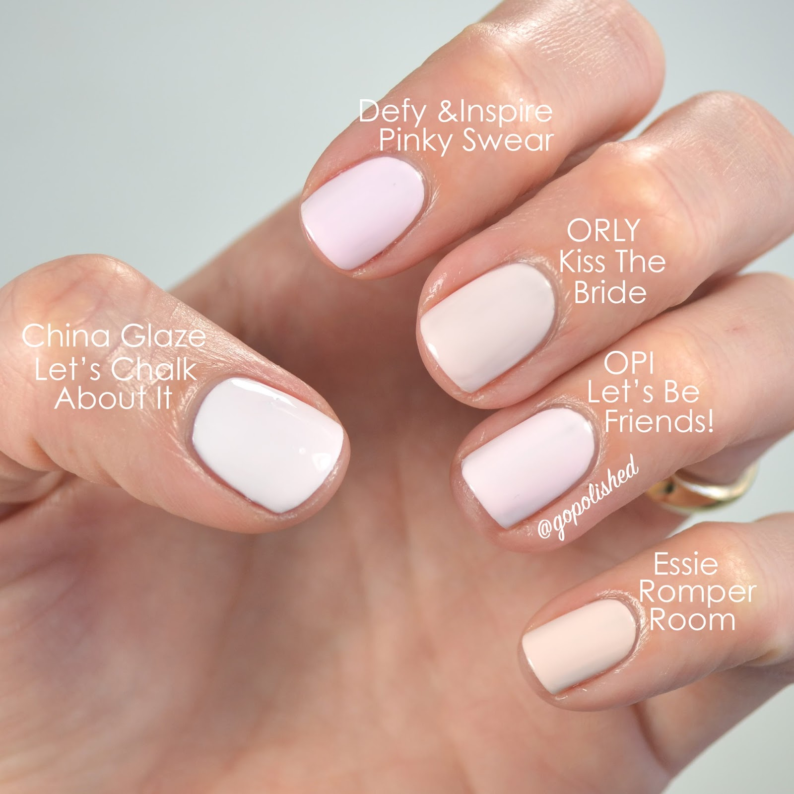 Pink Nail Polish Mini: Go Polished: Pale Pink Polish Showdown