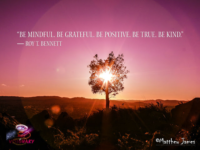 'Be mindful, be grateful, be positive, be true, be kind' - Roy T Bennett