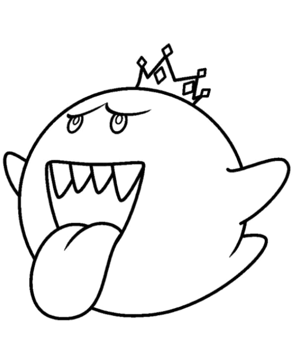 king boo coloring pages boo sonic free colouring pages