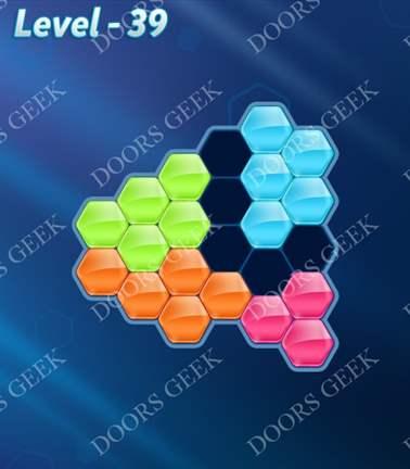 Block! Hexa Puzzle [Rainbow A] Level 39 Solution, Cheats, Walkthrough for android, iphone, ipad, ipod