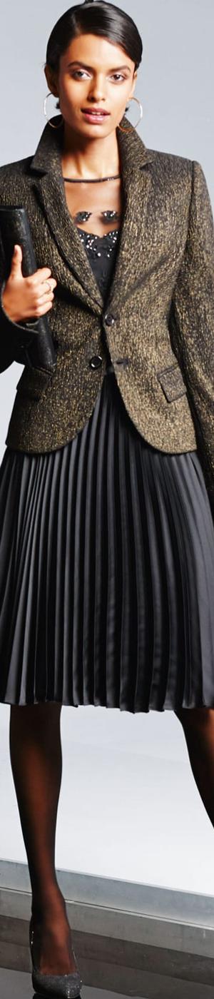 Madeleine Black/Gold Blazer