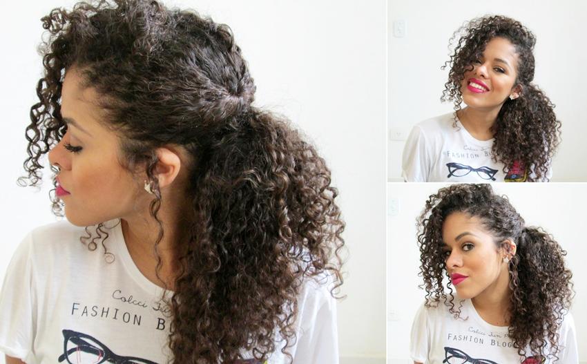 Penteados Faceis Para Cabelos Cacheados Passo A Passo