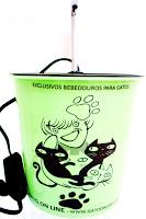 BEBEDOURO GATO ONLINE PLASTICO 1700 VERDE
