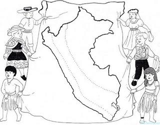 Colorear dibujos de Perú
