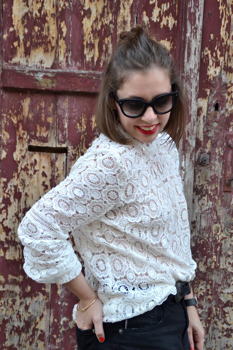 short Pimkie, blouse dentelle Shesinde, clubmaster