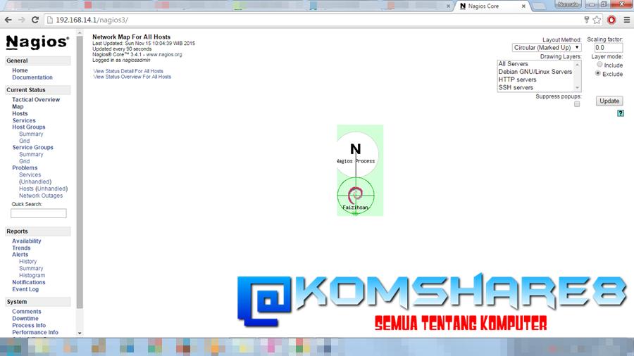 Cara Install Nagios 3 pada Debian Server