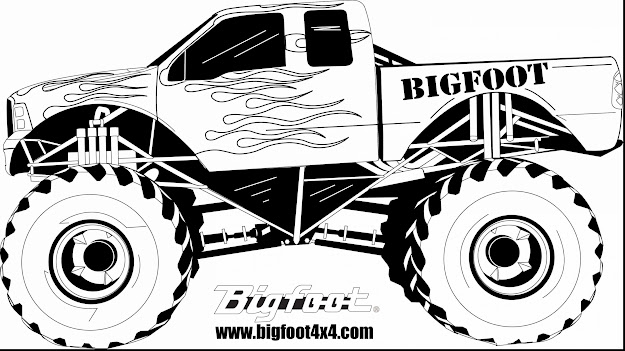 Surprising Bigfoot Monster Truck Coloring Pages With