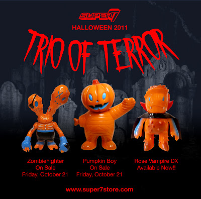 Super7's Trio of Terror: Pumpkin Boy, ZombieFighter & Rose Vampire DX