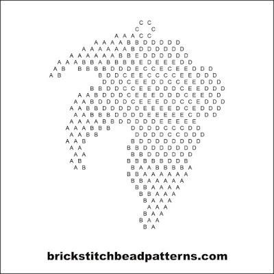Brick Stitch Bead Patterns Journal: Single Tea Rose Flower