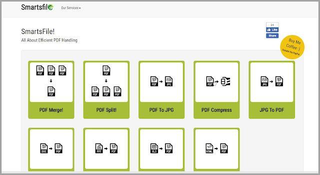 Smartsfile  : Μετατρέψτε συγχωνεύστε διαχωρίστε και συμπιέσετε τα έγγραφά σας