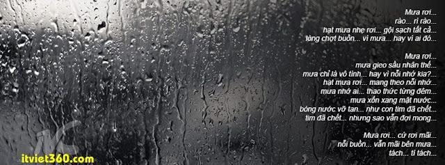 Ảnh bìa cho Facebook mưa | Cover FB timeline rain, mưa rơi rì rào hạt mưa nhẹ rơi gội sạch tất cả
