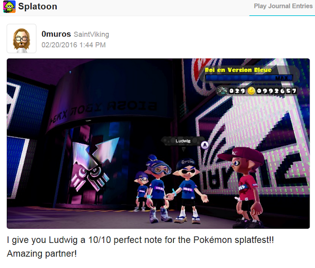 Splatoon Splatfest Inkopolis Square Miiverse Pokémon Blue compliment