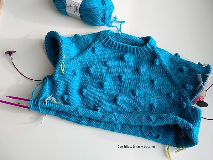 Con hilos, lanas y botones: DIY Jersey palomitero (jersey en punto popcorn o bodoque - patrón gratis)