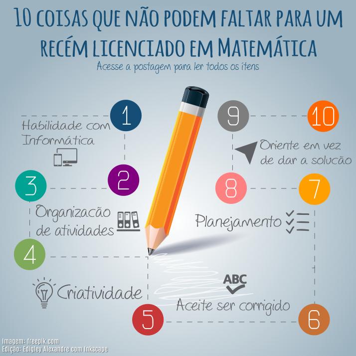 10 coisas que não podem faltar para um recém licenciado em Matemática