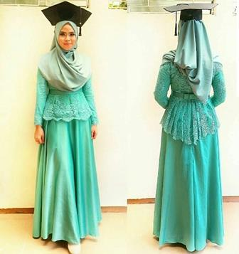 Model Baju Wisuda Modern Kebaya Gamis