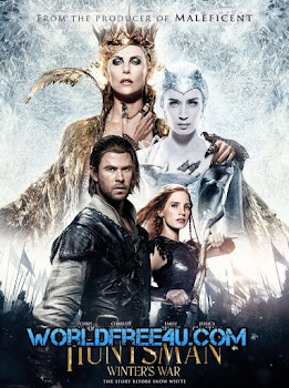 Poster Of The Huntsman: Winter's War 2016 Full Movie In Hindi Dubbed Download HD 100MB English Movie For Mobiles 3gp Mp4 HEVC Watch Online