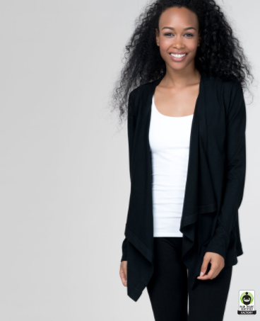 Lightweight Eco-Blend Wrap Cardigan Pact Clothing