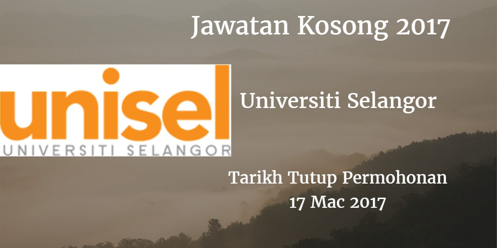 Jawatan Kosong UNISEL 17 Mac 2017